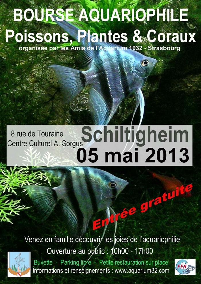Bourse des Amis de l'Aquarium 1932-Schiltigheim-05 Mai 2013 Affiche32