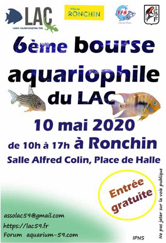 affiche bourse ronchin lac